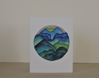 Views Abstract Landscape A2 Greeting Card