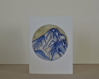 Marcellina Mountain Abstract Landscape A2 Greeting Card