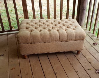 Brilliant Tufted Ottoman Etsy Caraccident5 Cool Chair Designs And Ideas Caraccident5Info