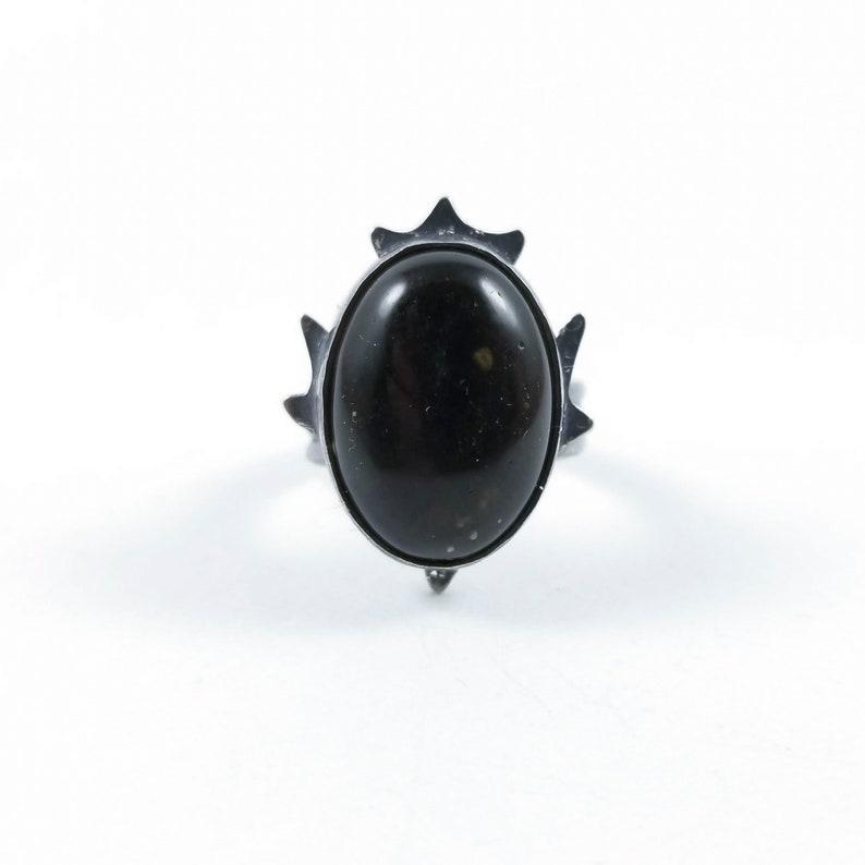 Size 5.5 Golden Sheen Obsidian Ring