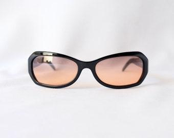 CHANEL Authentic Vintage 5062-B C 501/18 Black Sunglasses with Swarowski Crystals / Y2K Chanel Sunglasses / Chanel Eyewear