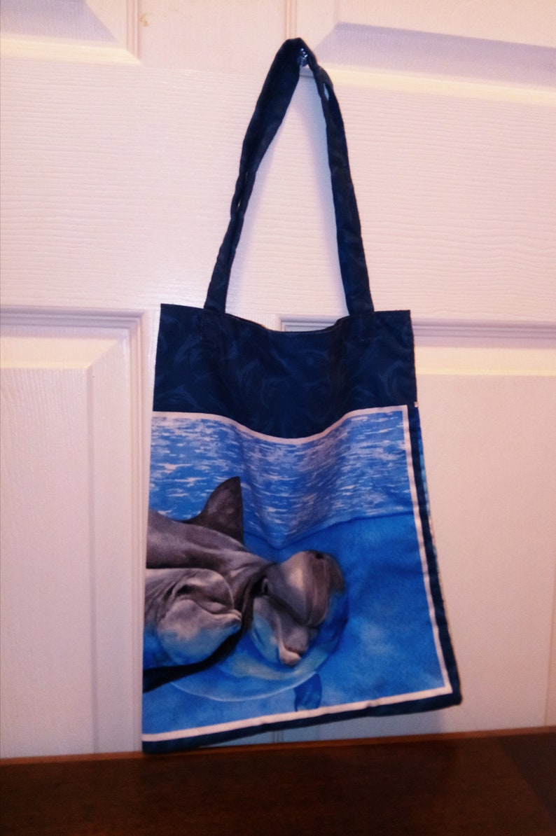 Small tote bag Short handle small tote Day travel bag Dolphin bag Tablet Tote Gift Bag