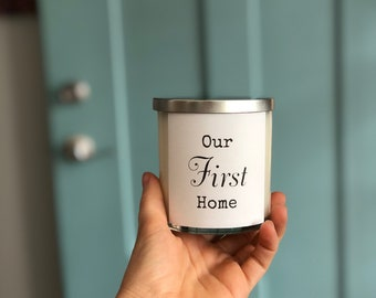 Custom Label Candle with Silver Lid