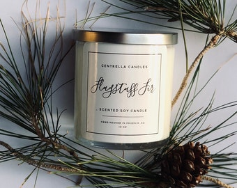 Flagstaff Fir Soy Candle with Lid
