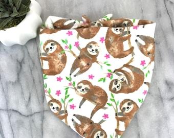 Winter Sloth Pet Bandanas