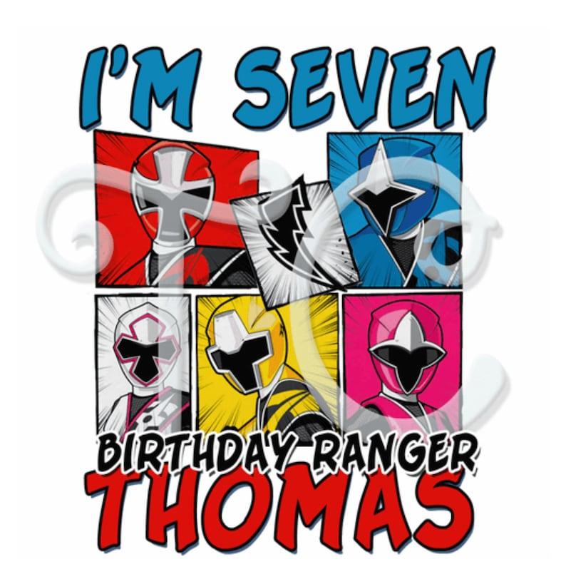 Power Rangers family shirts Power Rangers Custom Birthday shirt Power Rangers Custom Shirt