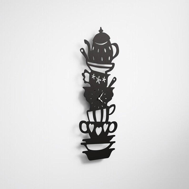 Horloge murale de tasse et de saucer