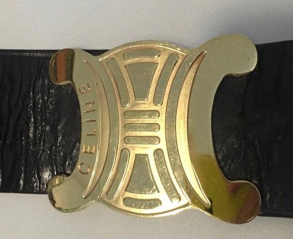 CELINE VINTAGE - cintura pelle anni '70 - 70's lea