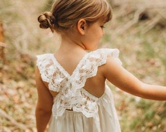 Layla - Lace Flower Girl Dress
