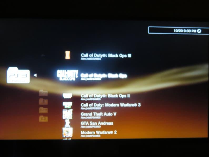 Jailbroken PS3 Slim 120GB  4.85 Rebug-Dex,Cex,Mod Menus,Ps3 Games,Rebug 4.84,ONLINE READY,BO3,Retro Games,Ps2 Games,Ps1 Games,Hack Ps3