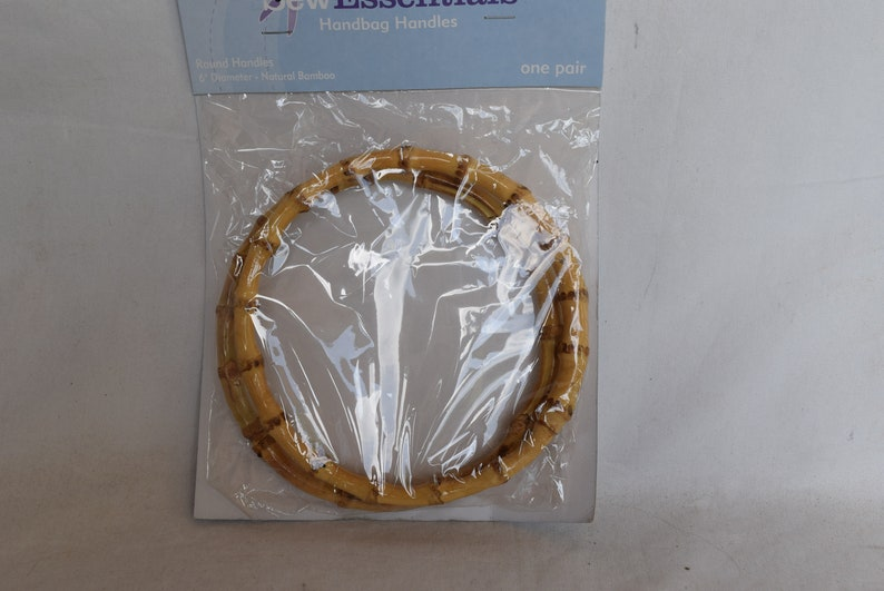 FREE SHIP 5 Diameter JoAnn Sew Essentials Bamboo Purse Handle Round Circle Bamboo Handbag Handle for Bag Making Purse Handle Replacement