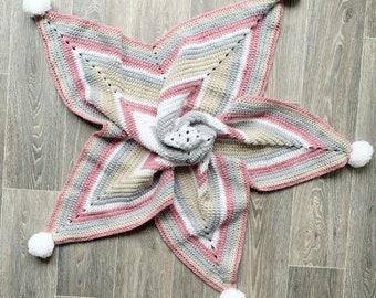 Handmade Crochet Blanket | Star Blanket | Baby Blanket | 3 Colours Available | Soft Blanket | Crochet | Knitter Blanket