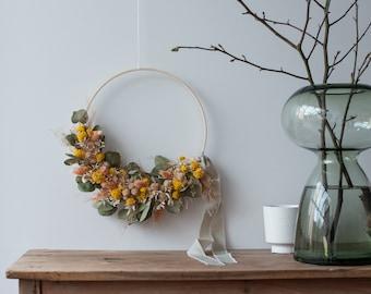 Floral Hoop with Eucalyptus