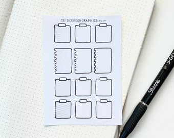 Bulletjournal Supplies | Blank Notes Stickers, bulletjournal stickers, planner stickers, organisation stickers, organisation accessories