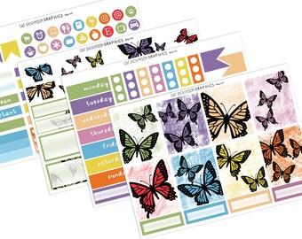 Butterfly Kisses | Weekly Vertical Planner Sticker Kit UK