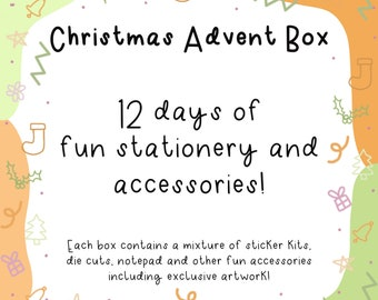 Christmas Advent Calendar | christmas gifts, christmas box, planner stickers, stationery set, stationery box, stationery gifts for students