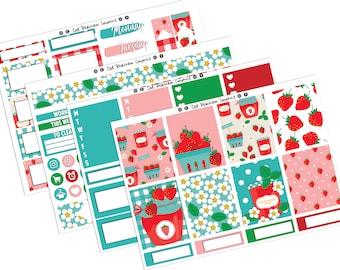 Strawberry Fields Spring Summer Weekly Vertical Planner Sticker Kit UK