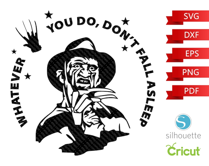 Whatever You Do Don't Fall Asleep SVG Freddy Krueger SVG image 0
