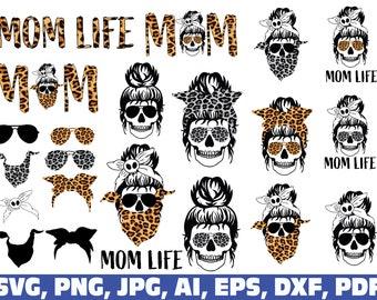 mom life svg, mom life png, mom life skull svg, mom skull svg, mom life leopard skull png, momlife svg, mom life skull, mom life leopard png
