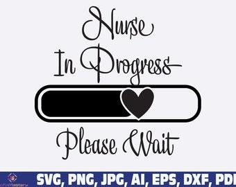 Nurse In Progress Please Wait SVG, leopard nurse svg png, Nurse Sublimation, Nursing Designs, Registered Nurse, nurse loading svg png
