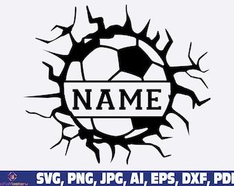 Name Soccer svg, Soccer Svg, American fan soccer svg, soccer ball name frame svg png, Name template, Soccer player svg, Soccer Team svg png