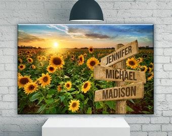 Sunflower Field Art Etsy