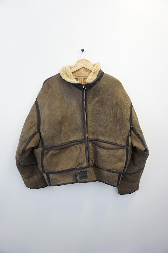 Vintage Oldschool 90s Shearling Sheepskin Jacket