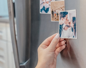 Fridge Magnets Photo Custom Magnets Photo Print Holiday Gift Picture Magnets Gifts Photo Printing Holiday Deals