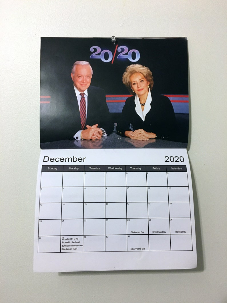 20/20 2020 Calendar image 0