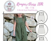 E-Book Romper Dress IDA Sewing Pattern with Sewing Guide