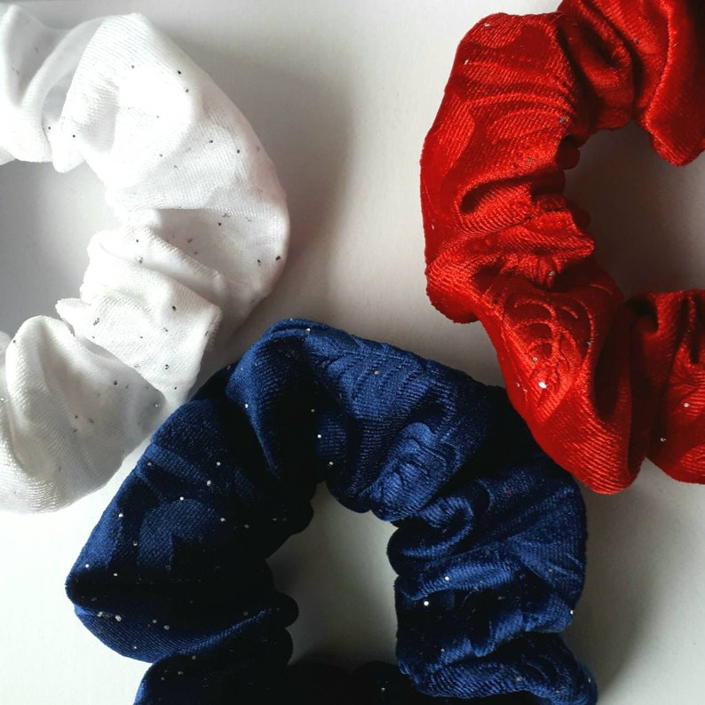 3 Soft Velvet Hair Scrunchies Set  Luxurious Hair Ties  Set Kids (5+)