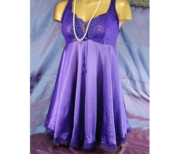 Plus Size Babydoll Nightgown 1X Intimate Attitudes