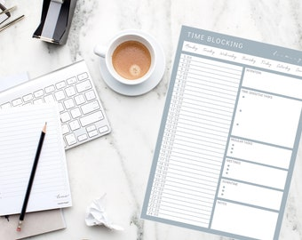 Nordic Time Blocking + Task Batching schedule planners // Time Management & Productivity; A4, A5, US Letter