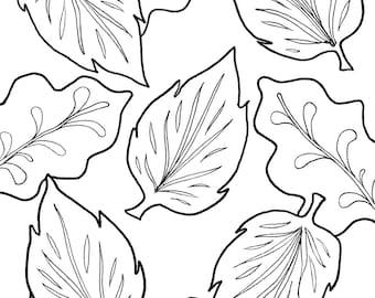 Fall Leaf Coloring Sheet