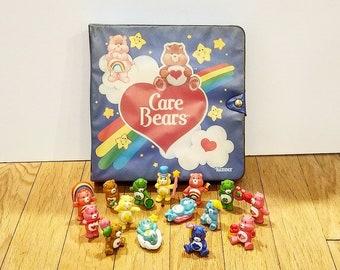 Vintage Care Bears Miniature Figures, Mini Care Bear Figurines, Care Bear PVC, Mini Care Bear Figures, Kenner Care Bear PVC - 12051