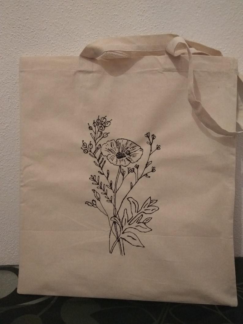 Jute bag flowers