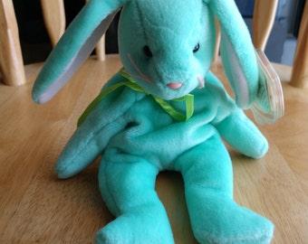 BORN 1999 TY Beanie Babies HIPPIE THE FLOPPY EARED RABBIT