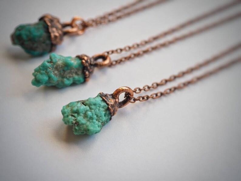 Irish Made Turquoise Turquoise Jewellery Copper Jewellery Boho Jewellery Rough Turquoise Raw Turquoise Turquoise Necklace