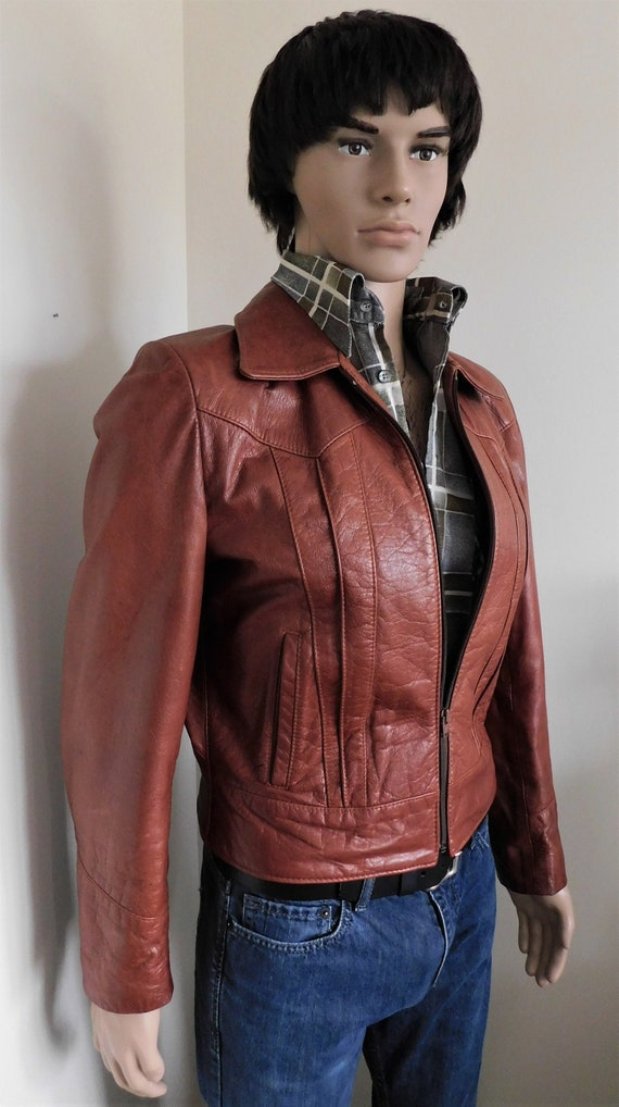 Vintage Men's Leather Jacket by Neto - Retro Colle