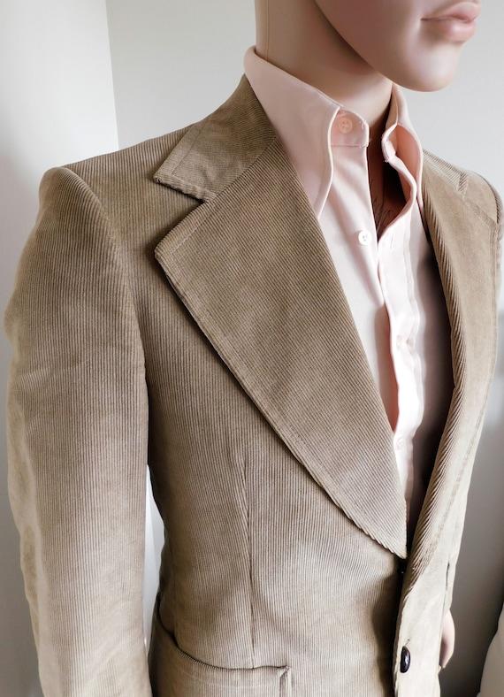 Vintage 1970's Men's Corduroy Suit Blazer Jacket b