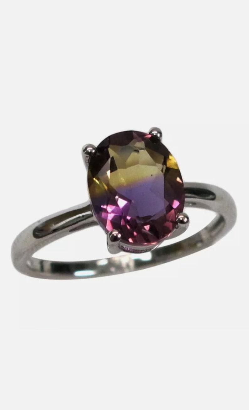 Amazing Quality Ametrine Ring 100/% Natural Ametrine Bio Colour Oval Shape Cut Stone Ametrine Jewelry Ring
