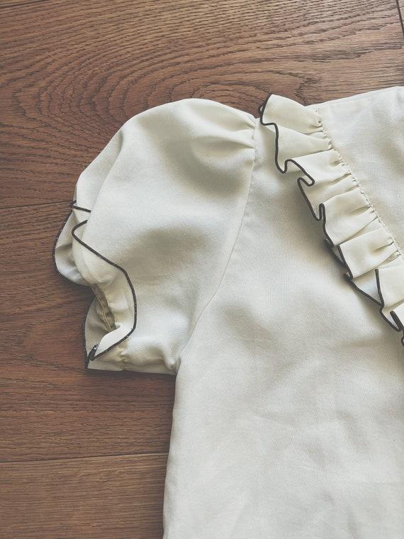 Vintage Ruffle Blouse - image 6