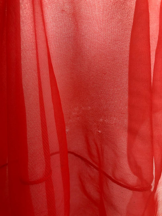 Vintage Sheer Red Nightie - image 9