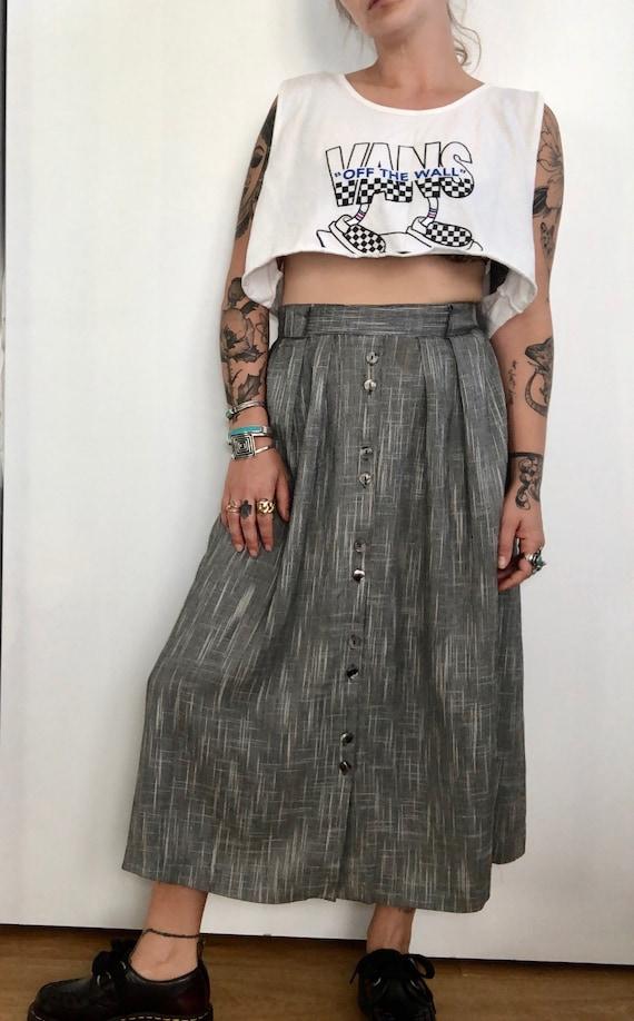 Vintage Chambray Long Skirt
