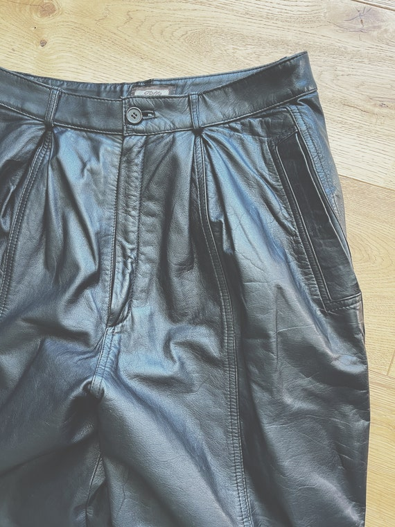 Vintage Leather Pleated Pant
