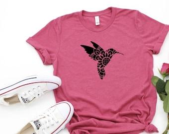 Hummingbird Shirt, Hummingbird Mandala Shirt, Bird Shirt, Hummingbird Mandala, Hummingbird Tshirt, Mandala Shirt, Hummingbird Print