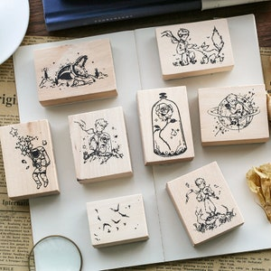 Gift for HimHer DIY Cute Craft Wooden Stamps Scrap booking Accessory School /& Office Stationery Stamp Seal Teacher/'s Gift