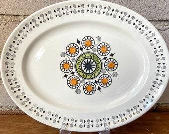 Kathie Winkle, Serving Tray, Platter, Renaissance, Vintage, Ironstone Broadhurst, Made in England