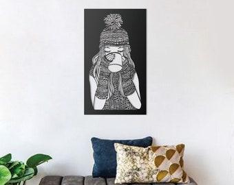 Coffee Metal Wall Art, Metal Wall Sculpture, Metal Wall Decor, Christmas Gift, Accent, Hanging Sculpture, Wedding Gift, Teen Room Decor Girl