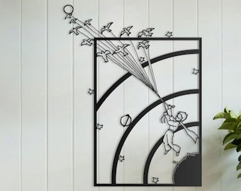 Little Prince Unforgettable  Metal wall art, metal wall sculpture, metal wall decor, living room kitchen bedroom